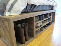 diy pallet bed with storage and headboard 101 pallets design