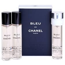 chanel bleu de chanel eau de toilette for 3 x 0 7 oz refill