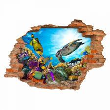 035 wandtattoo unterwasserwelt loch in der wand kinderzimmer wohnzimmer badezimmer in 6 größen sticker und aufkleber