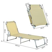 Outsunny Outdoor Folding Sun Lounger Camping Portable Recliner Patio Beach  Light Weight Chaise Garden Reclining Chair (Beige) Recliners Lounge Chair Sun Lounger Folding Beach Outsunny Outdoor Lounger Camping Portable Recliner Patio Light Weight Chaise Garden Recling Beige Hampton Bay Mix And Match Zero Gravity Sling In Denim Adjustable China Leisure With Pillow Armrest Luxury L Bed Foldable Cot Pool A Deck Travel Presyo Ng 153cm 2 In 1 Sleeping Magnificent Affordable Chairs Waterproof Target Details About Kingcamp Gym Loungers