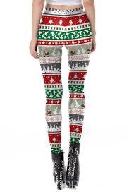 Christmas Breathable Cartoon Print Womens Pants Item Code 13554775
