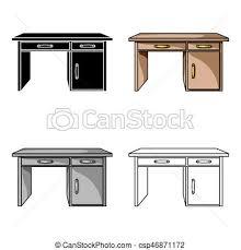 icone bureau style illustration bureau symbole isolé arrière plan