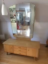 details zu schlafzimmer birke 50er 60er jahre bett kleiderschrank nachttische spiegelkomode