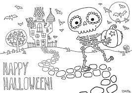 Printable Halloween Coloring Pages For Toddlers Free Preschoolers Adults Fun Fingers Candy Large Size