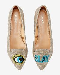 Slay Embroidered Patch Flats