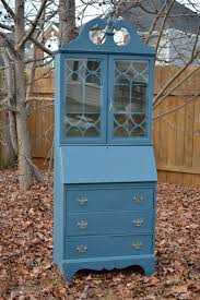 Secretary Desk With Hutch Plans by Vintage Secretary Desk Hutch Hand Painted With Chalk Paint Tm By