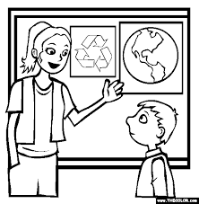 Earth Day Going Green Online Coloring Pages