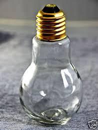 real size novelty light bulb jar paperweight craft decor bottle w