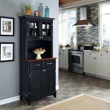 Home Styles China Cabinet Country Style Wood Glass Kitchen Dining Room Storage Buffet Hutch Top