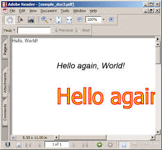 Text Is Rendered Using Arial Italic In Default Black Color The Second Hello Again World Written Tahoma Font Filled With Yellow And