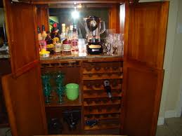 armoire cabinet into a bar bar cabinet