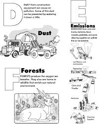 Colouring In Pages Environment Air Pollution Color PollutionPrintable Coloring Free