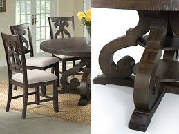 Stone Dining Reverse Scroll Chair