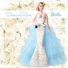 barbie is a bride in this oscar de la renta wedding dress