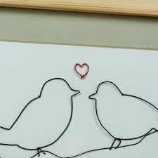 Framed Original 2D Wire First Sight Bird Artwork