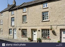 100 Three Story Houses Story Cotswold Stone Houses In Town Row Northleach Stock