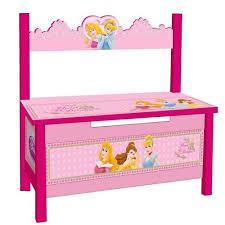 banc et coffre à jouets pour fille princesse de disney
