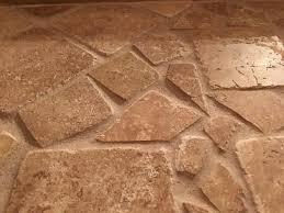 travertine shower floor tile issue uneven grout low help