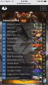 blood warrior deck review hearthstone amino