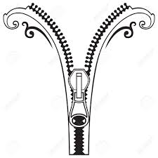 zip clipart black and white 6