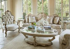 Platine de Royale Living Room Sofa Set in Champagne by Michael