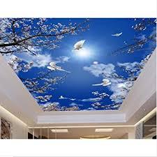 zybnb benutzerdefinierte 3d deckenwandbilder kirschblauer