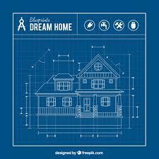 Blueprints House Premium Vector House Blueprint