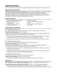 Sample Resume For A Midlevel Manufacturing Engineer V2ku4
