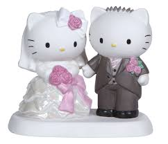 Precious Moments Hello Kitty And Dear Daniel Wedding Couple Cake Topper Figurine