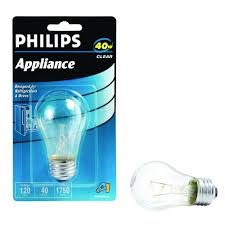 Philips Lamps Cross Reference by 40 Watt Incandescent A15 Clear Appliance Light Bulb 416768 The