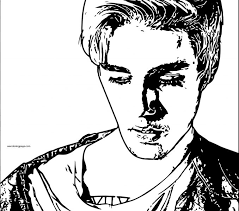 Justin Bieber Coloring Pages Page 2017 Wisacare To Print