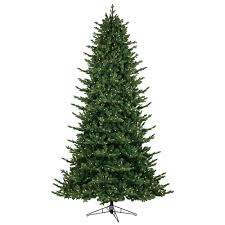 GE 9 Ft Just Cut Canadian One Plug Artificial Christmas Tree With Warm White Led
