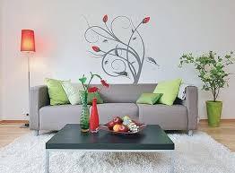 wandtattoo blumen wohnzimmer deko idee freshouse