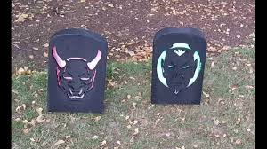 Diy Halloween Tombstones Plywood by Diy Cnc Cut Halloween Led Lighted Tombstone Yard Decoration Prop