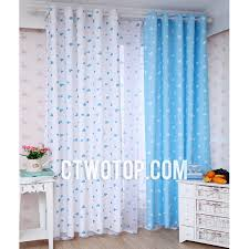 Yellow And White Curtains For Nursery by White And Baby Blue Heart Patterned Best Chic Nursery Kids Curtains