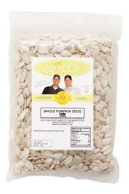Shelled Pumpkin Seeds Nutritional Value by Raw In Shell Pumpkin Seeds Whole Pepitas Mygerbs Com