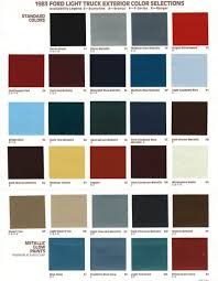 100 Ford Truck Colors Exterior Paint Codes Garys Garagemahal The Bullnose Bible