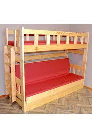 lit superposé en bois massif casper 180x80 cm