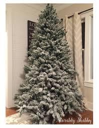 Flocking Powder For Christmas Trees by Easy Diy Flocked Christmas Tree Adorably Shabby
