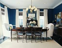 D Navy Blue Dining Room With White Curtains So Fresh Looking