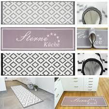 küchenläufer teppichläufer küche grau premium design raute