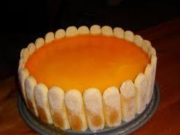 mandarinen sahne torte mit löffelbiskuits