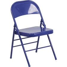 100 Blue Plastic Folding Chairs Flash Furniture Metal Chair Cobalt 300Lb Capacity