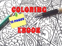 Ebook 15 Adults Coloring Pages For Adult Zentangle Intricated Digital Meditation Art Therapy Doodle Stress Relief Lasoffittadiste