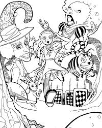 Alice In Wonderland Coloring Pages Movie For Kids Printable Free