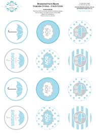 Kara s Party Ideas Free printable baby shower party circle tags