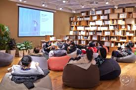Bookworms Can Sit On The Bean Bags In Open MUJI Area Where Hipsters Are Constantly Hosting Exhibitions Talks And Workshops