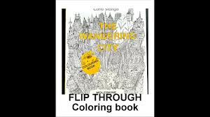 Flip Through The Wandering City Coloring Book By Carlo Stanga