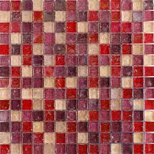 Hammered Pearl Pink Mosaic Glass Tiles For Bathroom Or Kitchen