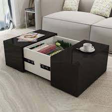 100 Living Room Table Modern Amazoncom Festnight Coffee With A Concealed Storage